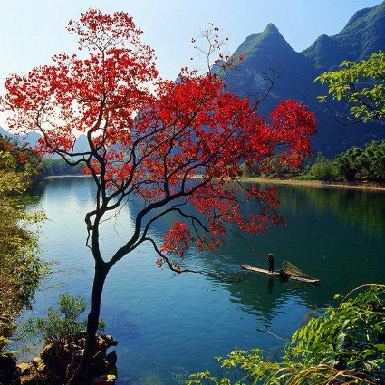 桂林漓江风景名胜区-中国旅游-南国风